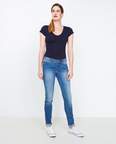 Blauwe skinny jeans